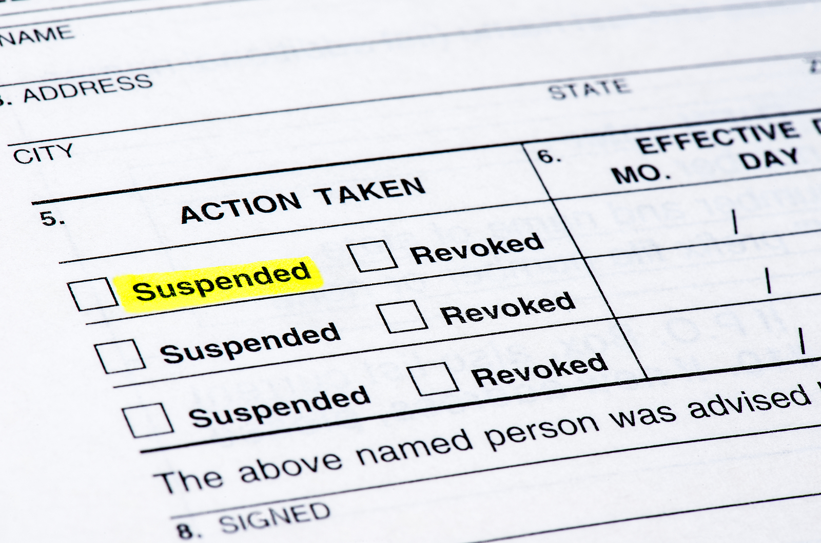 Appealing a Suspended License in Raleigh, NC